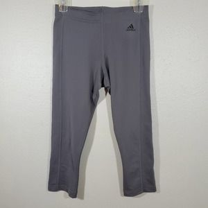 Adidas Climalite Gray Cropped Leggings Size Small